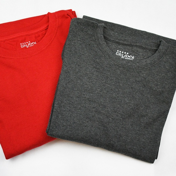 0b597656a84e 2 Pack Harvic Men s Thermal Shirt Crew Neck